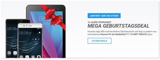 Huawei Tablet Gratis-Aktion