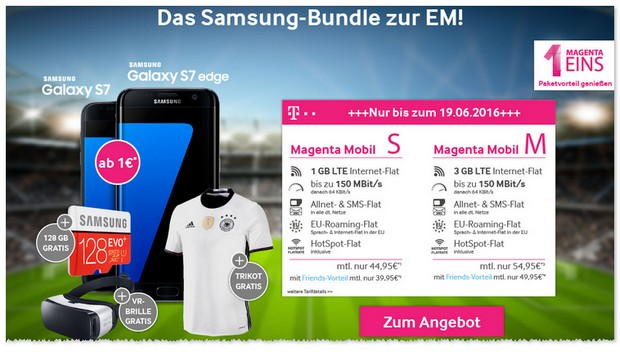 Magenta Mobil S Friends + Samsung Galaxy S7 Edge + EM Bundle