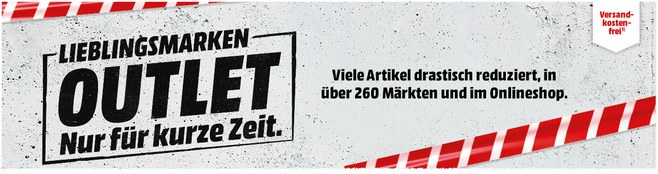 Media Markt Restposten-Aktion mit Lieblingsmarken-Outlet