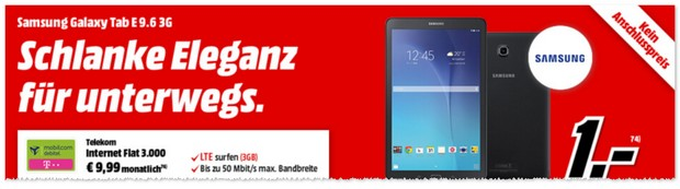 Samsung Tablet + D1 Datentarif im Bundle