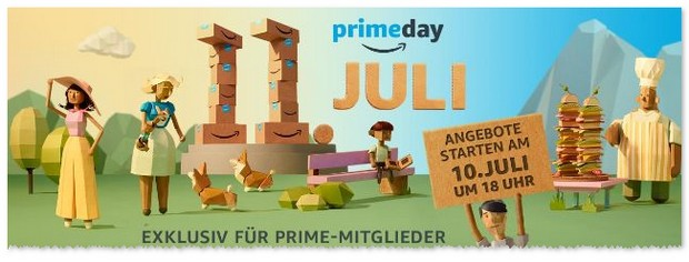 Amazon Prime Day: Start vor dem 11.7.2017