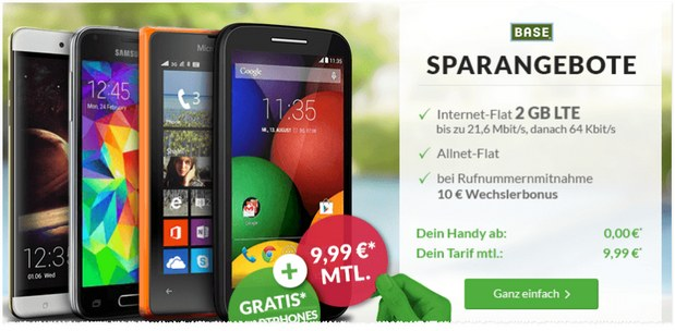 BASE Light eco bei DeinHandy: 10 € Tarif inklusive Handy