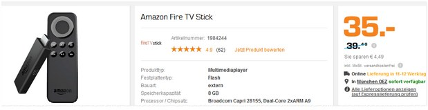 Fire TV-Stick bei Saturn