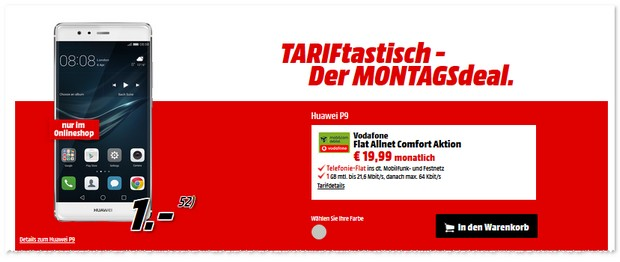 Media Markt TARIFtastisch Deal ab dem 25.7.2016