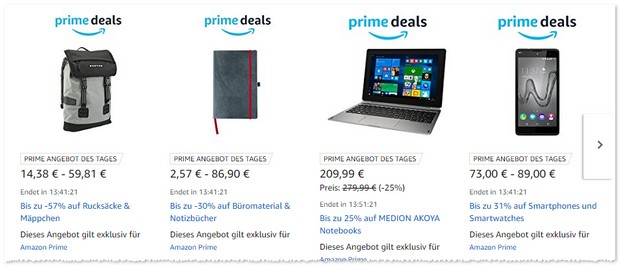 Amazon Prime Deals am 31.8.2017 mit Smartphones