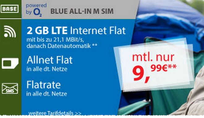 BASE Blue All-in M Aktion für 9,99 €