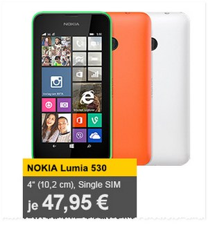 Lumia 530 (Single-SIM) für 47,90 € als Allyouneed-Tagesangebot