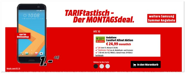Media Markt TARIFtastisch Deal ab 5.9.2016
