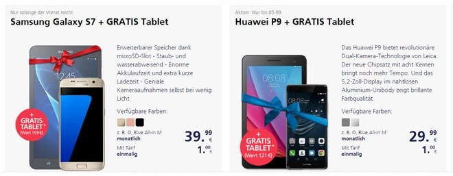 o2 Tablet gratis Aktion