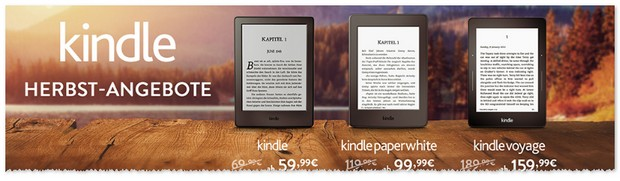 Amazon Kindle Herbst-Angebote