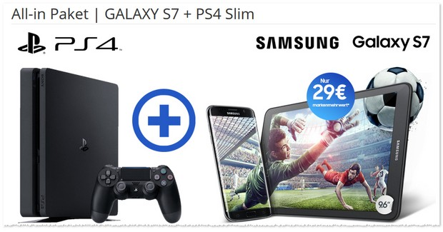 Magenta Mobil S Friends + Samsung Galaxy S7 + PS4 slim als Bundle