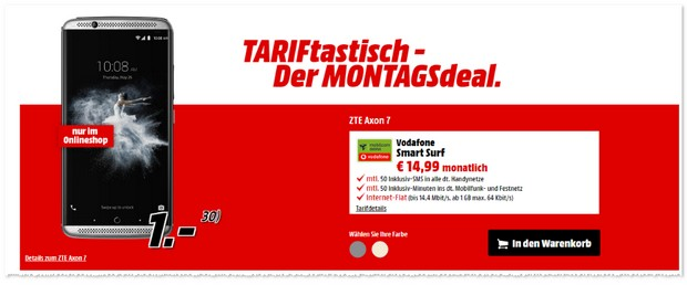 Media Markt TARIFtastisch Deal ab 10.10.2016