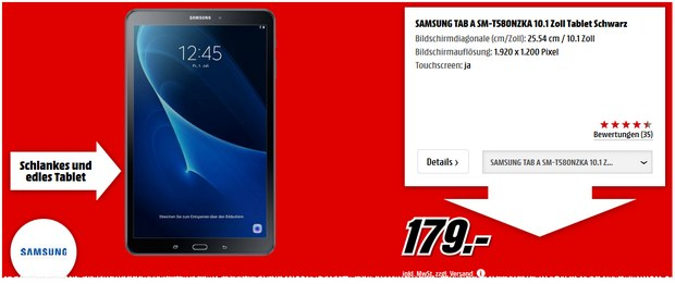Samsung Galaxy Tab A 10 1 Wifi Lte 32gb 189 99