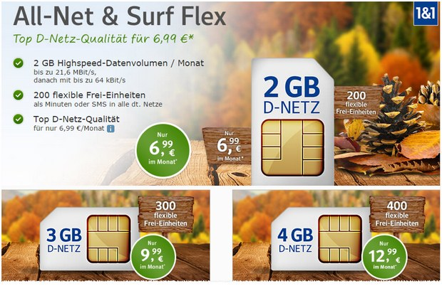 WEB.DE All-Net & Surf Flex 2016