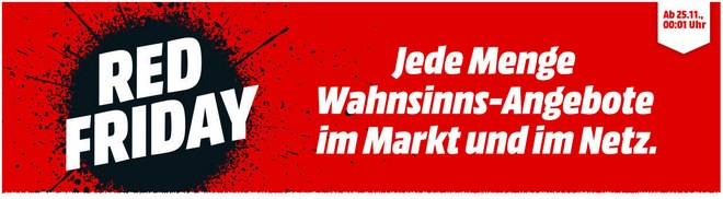 Media Markt Werbung mit Red Friday