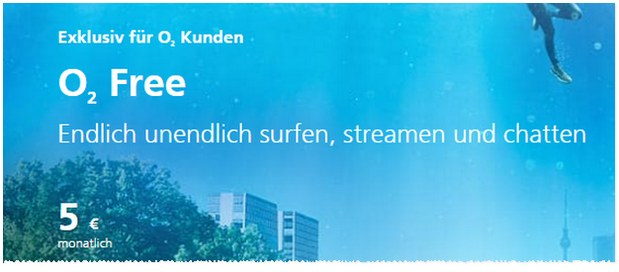 o2 Free Option als Bestandskunden-Upgrade für 5 €