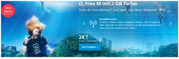 o2 Black Weekend Deal