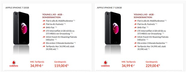 vodafone young l 11 gb lte iphone 7 top deals im check. Black Bedroom Furniture Sets. Home Design Ideas