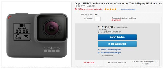GoPro Hero5 Angebot
