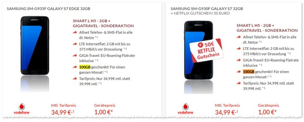 Vodafone Smart L (2GB) + Samsung Galaxy S7 + GigaBoost?