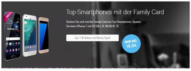 Telekom Aktion mit Family Card