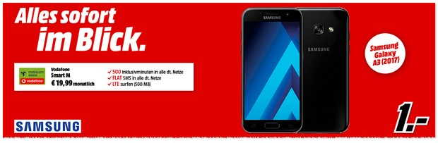 Vodafone Smart M mit Samsung Galaxy A3 (2017)