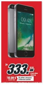 iPhone SE 16GB bei Media Markt ab 19.4.2017 für 333 Euro