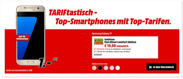 Media Markt TARIFtastisch Deal ab dem 11.5.2017