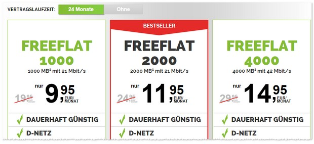 freenetmobile freeFLAT günstiger
