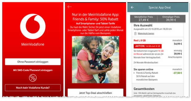 MeinVodafone Special App Deal
