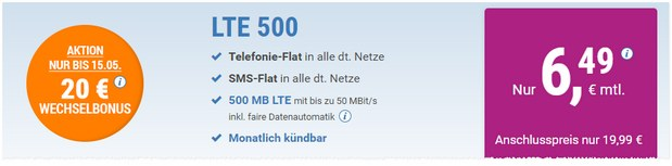 simply LTE 500 Aktion