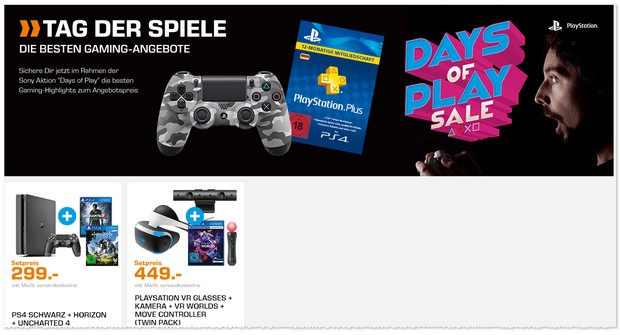 Sony Days of Play: PS4 im Bundle