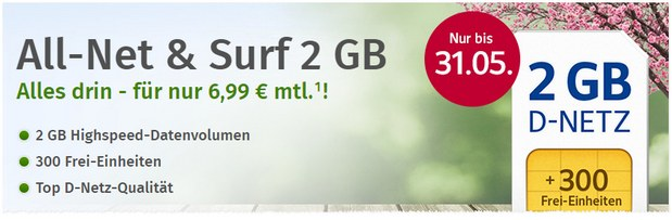 WEB.DE Handytarif 2GB (All-Net & Surf)