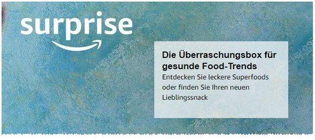 Amazon Surprise Box: Überraschungsbox für gesunde Food-Trends