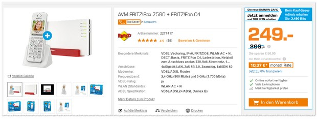 FRITZBox Angebot