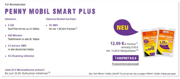PENNY mobil Smart Plus