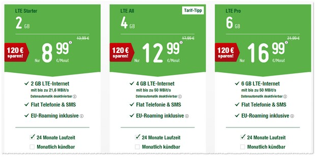 smartmobil LTE All Tarif