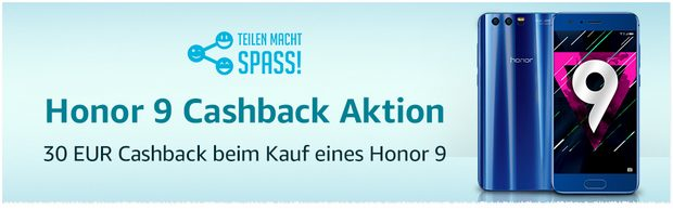 Honor 9 Cashback-Aktion