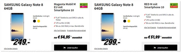 Samsung Galaxy Note 8 mit Vodafone Red M (md)