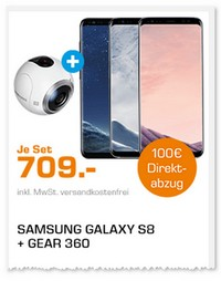 Bundle-Deal aus Samsung Galaxy S8 und Gear 360