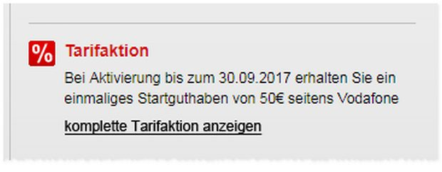 Vodafone Smart L mit iPhone 7: 50 € Startguthaben-Aktion
