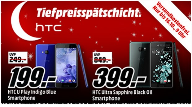 HTC U Ultra in der Sapphire Edition (128GB) bei Media Markt bis max. Monatgfrüh