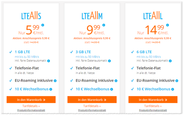 sim.de LTE All L mit 6GB