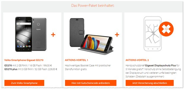Power Paket zum Volks-Smartphone