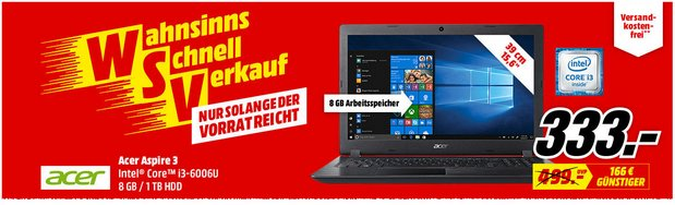 MediaMarkt Angebot ab 29.1.2018 (WSV-Notebook)