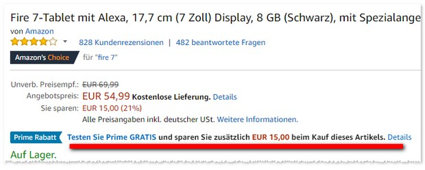 Fire 7-Tablet bei Amazon unter 40 Euro