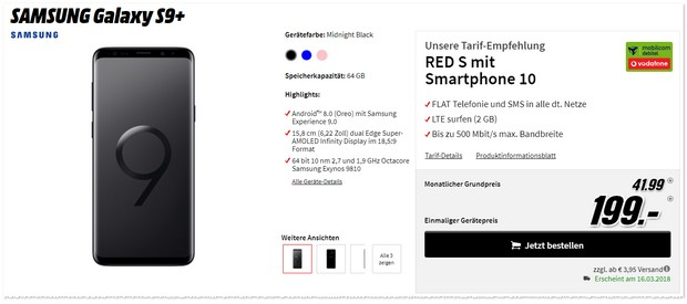 Samsung Galaxy S9 Plus + Vodafone Red S (md)