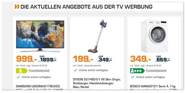 Dyson V6 Slim Origin als Saturn Angebot