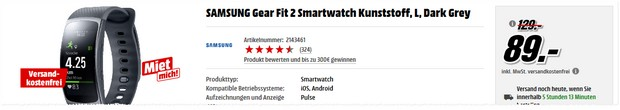 Samsung Gear Fit 2 Angebot