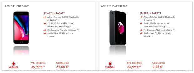 iPhone 7 (128GB) mit Vodafone Smart L Plus